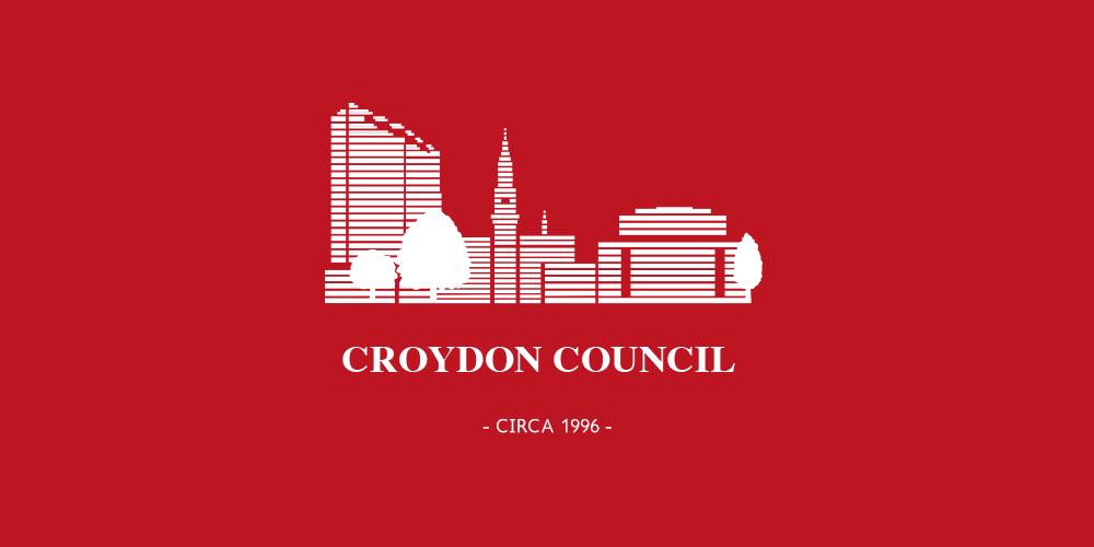 An old Croydon Council logo circa 1996