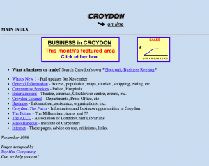 Croydon's first website