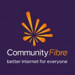 Community Fibre logo with tagline better internet for everyone