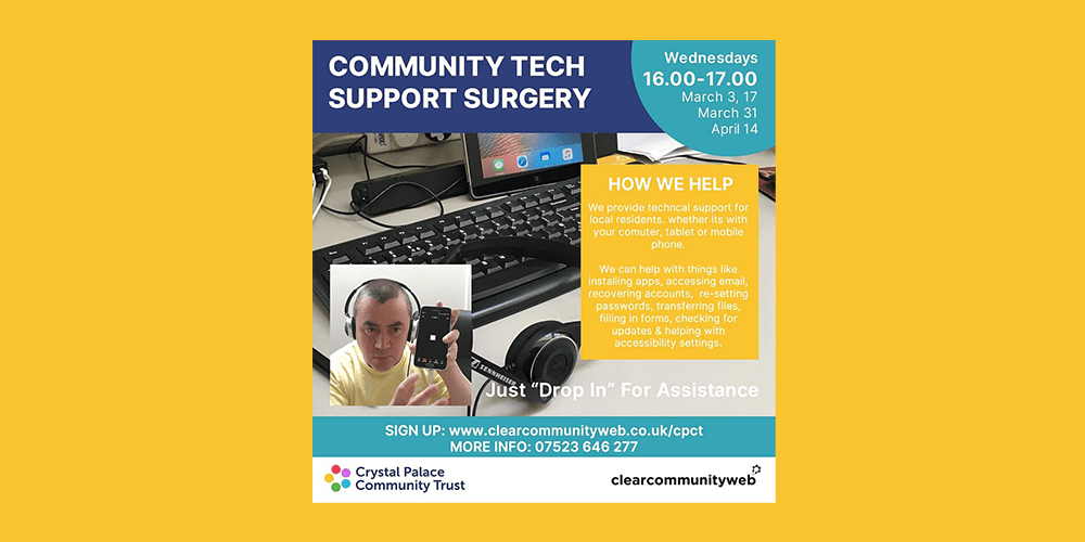 Community tech support surgery event